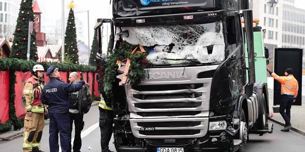 Attentat de Berlin: Le chauffeur du camion s'est battu avec l'auteur de l'attentat