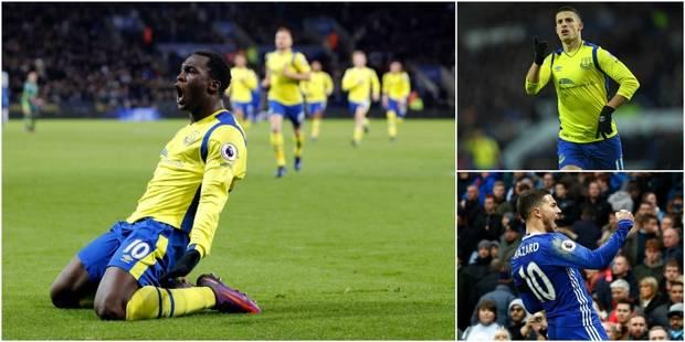 Belges à l'étranger: Hazard signe son 50e but en Premier League, Mirallas et Lukaku marquent à Leicester (IMAGES) - La D...