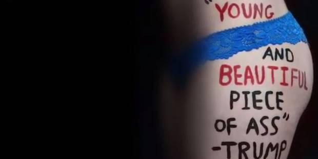 Une artiste de 18 ans met en scène le sexisme de Donald Trump (VIDEO) - La DH