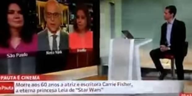 Un journaliste brésilien tente une blague suite au décès de Carrie Fisher (VIDEO) - La DH