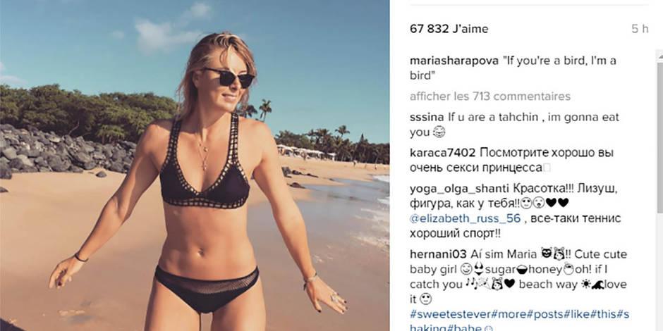 Maria Sharapova sexy en bikini à Hawaii (PHOTOS)