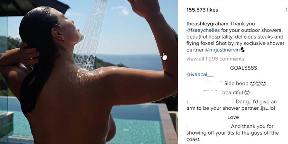 Ashley Graham topless aux Seychelles (PHOTOS)