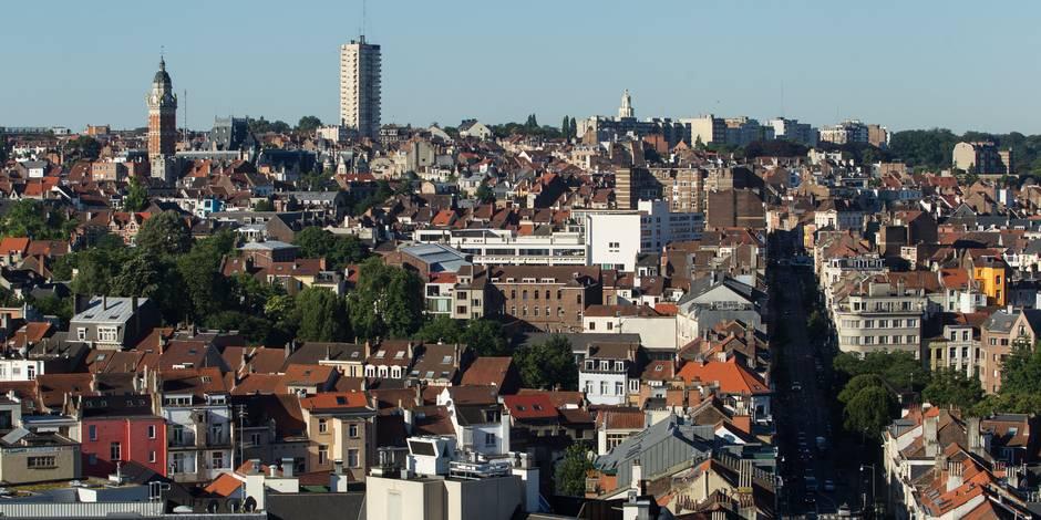 Bruxelles - vue générale à partir de Saint-Gilles