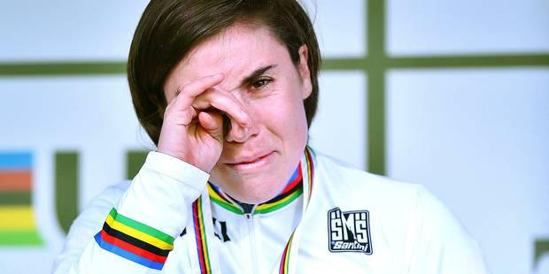 """Sanne Cant, première belge championne du monde de cyclo-cross: """"Aujourd'hui, j'ai écrit l'histoire"""" - La DH"""