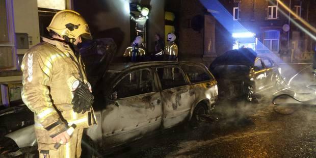 Monceau-sur-Sambre: Un incendie de voitures endommage des habitations - La DH