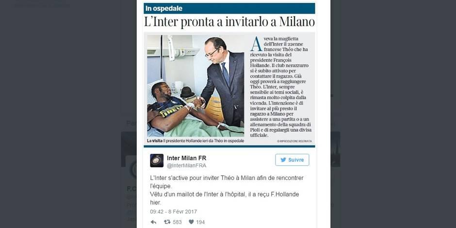 Agression policière à Aulnay: le beau geste de l'Inter pour Théo