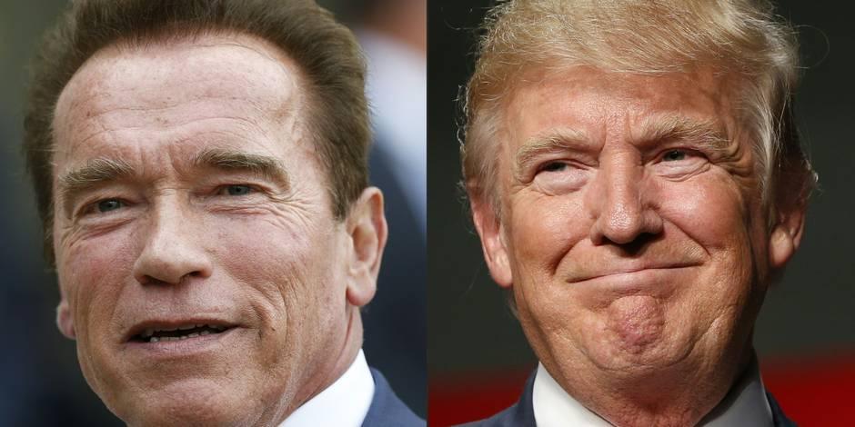"""Schwarzenegger avoue vouloir """"éclater la tête de Trump sur un coin de table"""""""