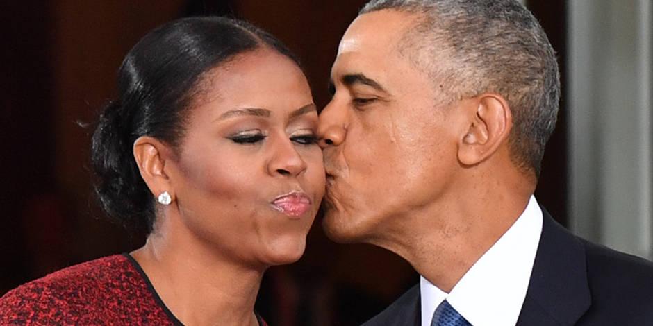 Michelle et Barack Obama se twittent des mots d'amour