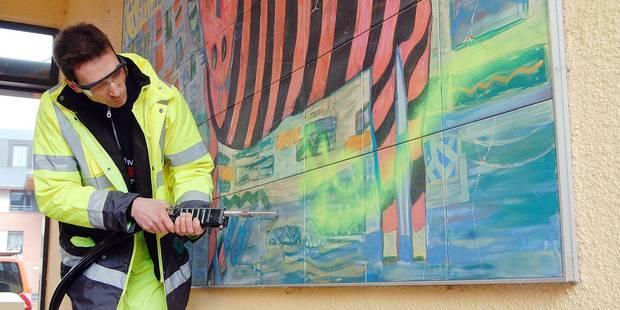 Nivelles : Un auteur de tag va nettoyer les façades - La DH