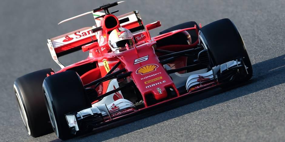 Essais F1: Vettel frappe fort, déjà un souci pour l'écurie de Vandoorne