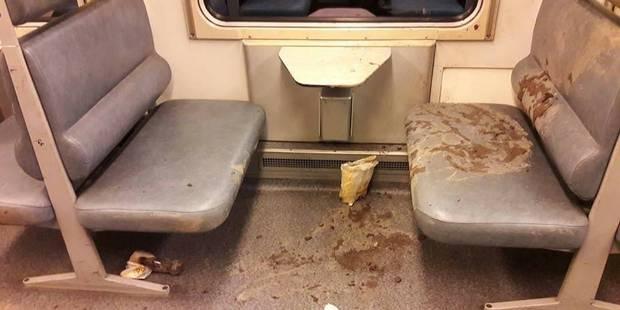 Gembloux : des trains dans un état inimaginable après le passage des students - La DH