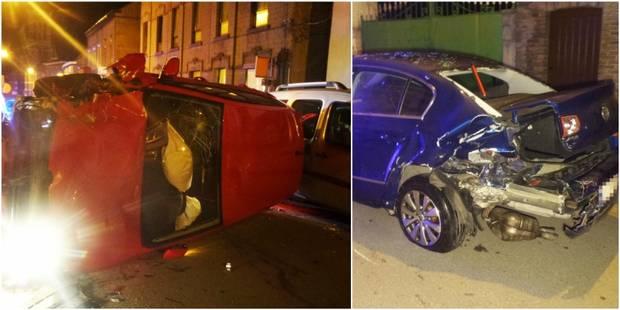 Forchies-la-Marche: une voiture sort de la route et endommage cinq véhicules (PHOTOS) - La DH
