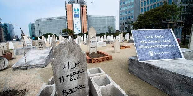 Un cimetière en plein quartier européen, la Commission en arrière-plan (PHOTOS) - La DH