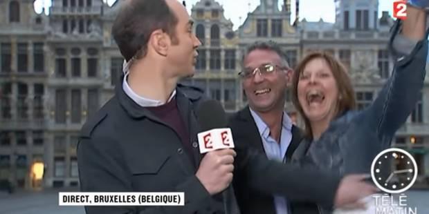 Scène cocasse lors d'un duplex de France 2 sur la Grand-Place de Bruxelles (VIDEO) - La DH