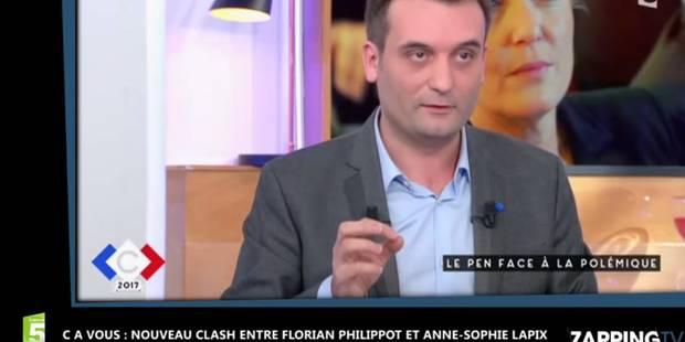 Nouvel échange tendu entre Anne-Sophie Lapix et Florian Philippot (VIDEO) - La DH