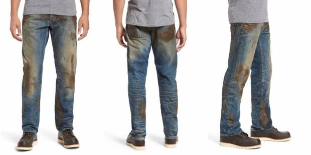 Un jeans faussement crasseux, un prix démentiel... et Twitter s'enflamme - La DH