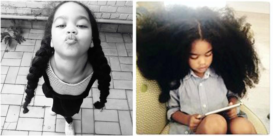 """La fillette belge aux """"plus beaux cheveux du royaume"""" (PHOTOS)"""