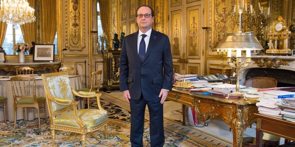 French President Francois Hollande Official Portrait Session - Paris