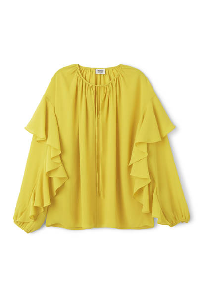Blouse à froufrous Weekday, 45€