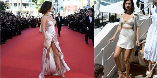 Entre culotte et bralette, Bella Hadid se fait remarquer en ce premier jour de festival - La DH