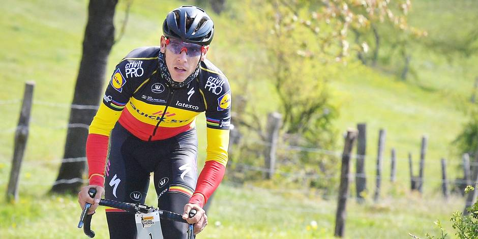 Belgian Philippe Gilbert of Quick-Step Floors pictured in action during, the Philippe Gilbert Classic cycling tour for amateurs, Sunday 30 April 2017, in Aywaille. BELGA PHOTO DAVID STOCKMAN