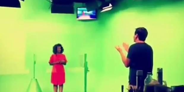 Cécile Djunga prépare son entrée à la météo (VIDEO) - La DH