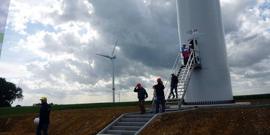Hélécine : les éoliennes tournent à plein régime