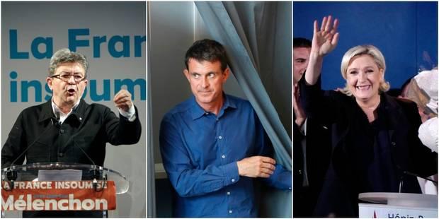 Valls sur un fil, Le Pen et Mélenchon élus, Philippot, Vallaud-Belkacem et NKM défaits... Découvrez les résultats des pr...