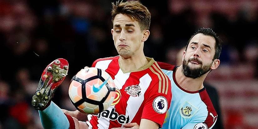 Sunderland's Adnan Januzaj in action with Burnley's Steven Defour