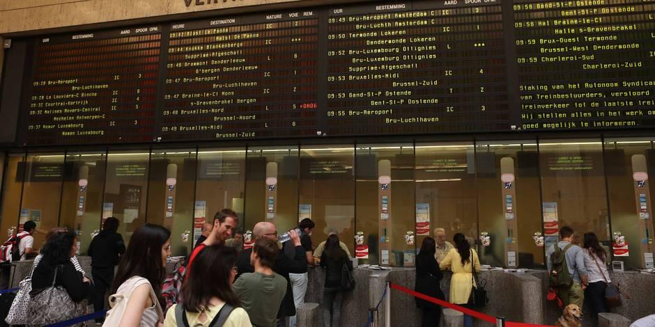 La gare de Bruxelles-Central à nouveau desservie par les trains