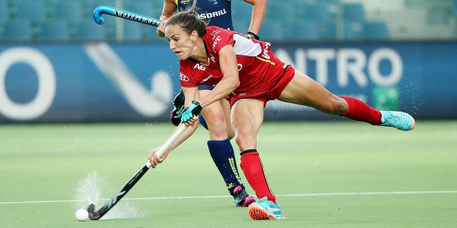 Hockey World League Red Panthers Judith Vandermeiren lors de Belgique-Australie