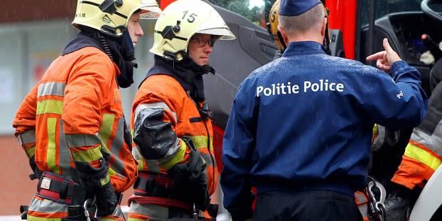 Deux pompiers brûlés au visage au cours d'un incendie suspect à Jemeppe-sur-Sambre - La DH