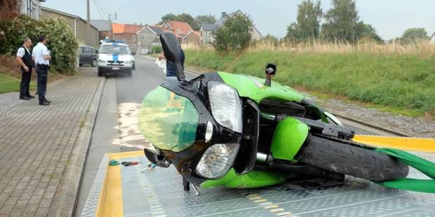 Un motard percuté par une automobiliste à Braine-le-Comte - La DH