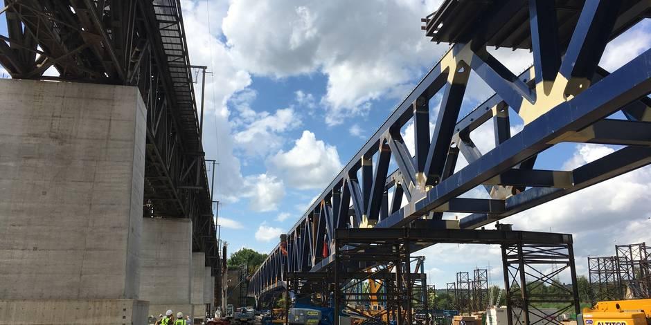 Visé : le pont des Allemands est en train d'être remplacé