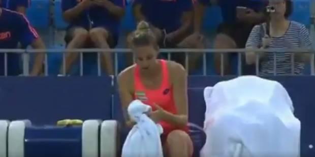 Kristyna Pliskova se coince le doigt dans un ventilateur en plein match (VIDEO) - La DH