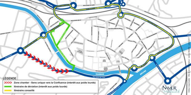 Namur: déviations à Salzinnes dès lundi - La DH