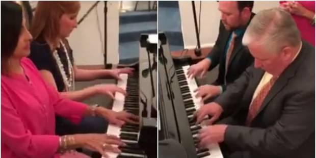 Un piano, quatre musiciens et huit hymnes d'église: la performance qui buzze (VIDÉO) - La DH