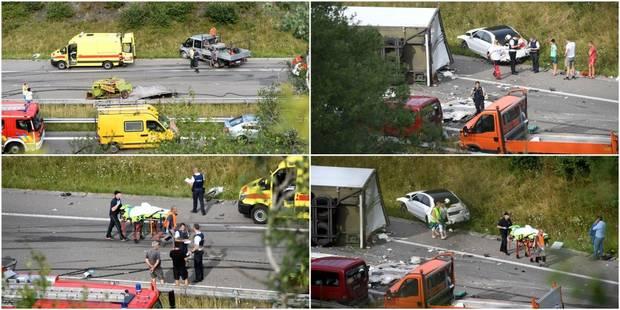 Violente collision sur la E25 à Mabompré: 4 blessés et l'autoroute fermée en direction de Liège, une déviation vers Houf...