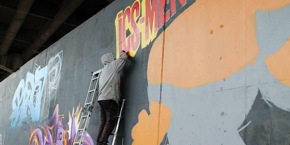 Charleroi: Les graffeurs peuvent désormais s'exprimer légalement
