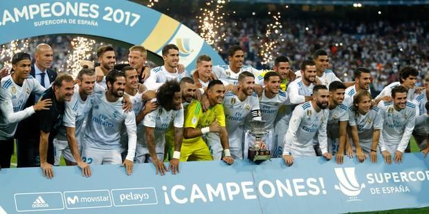 Real Madrid gagne la Supercoupe d'Espagne contre Barcelone, 7e trophée de l'ère Zidane - La DH
