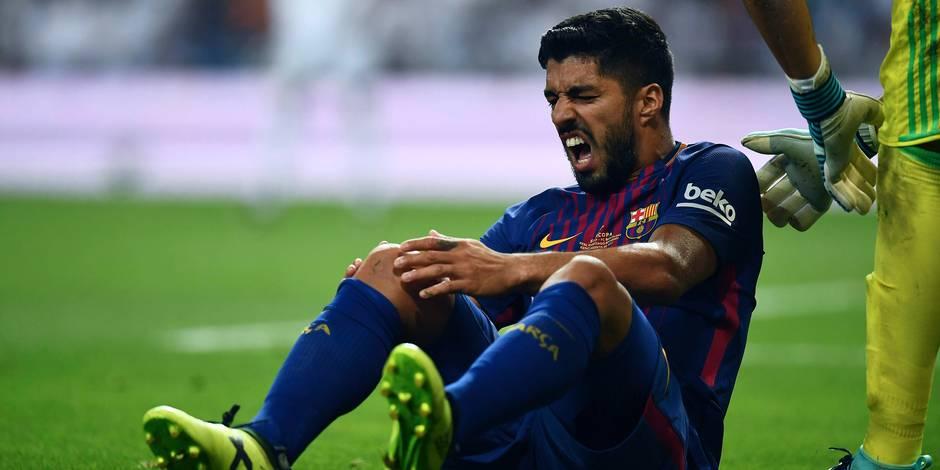 De la MSN à M: le Barça privé de Suarez pour un mois