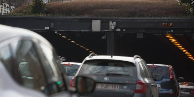 Chaos à Bruxelles après la fermeture du tunnel Léopold II - La DH