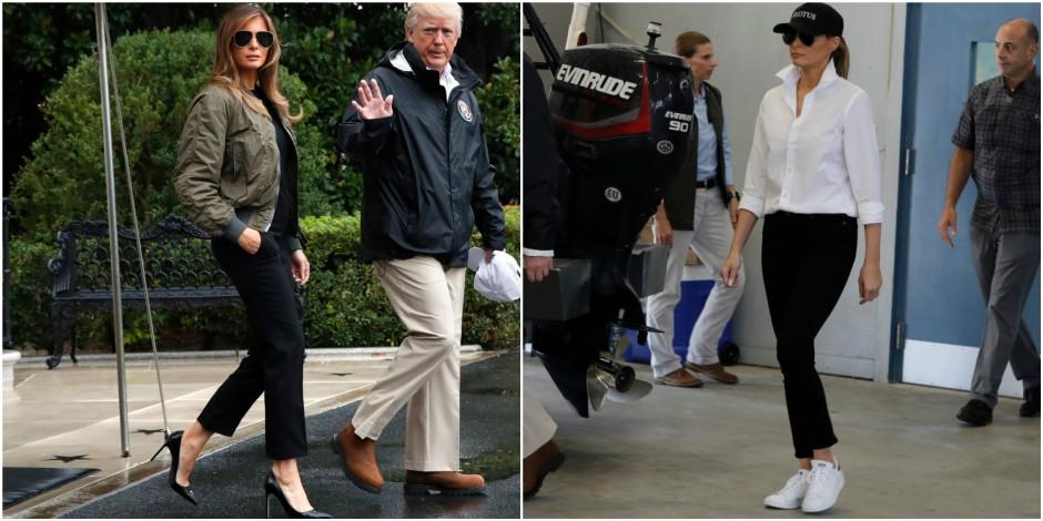Melania Trump au Texas: des talons aiguilles qui ne passent pas et des baskets en guise de pardon
