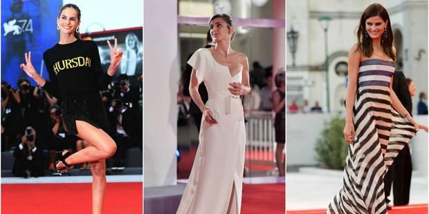 Julie Gayet et les mannequins-star font leur show à Venise - La DH