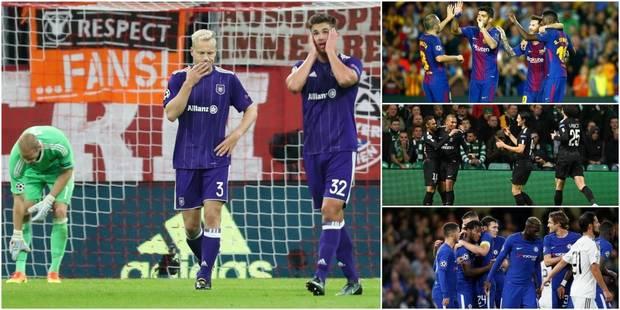 C1: réduit à 10, Anderlecht ne peut rien face au Bayern (3-0), Barcelone, Chelsea et le PSG cartonnent (VIDEO) - La DH