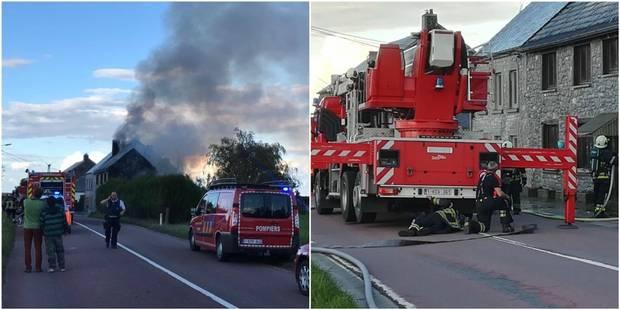 Importants dégâts suite à un incendie à Lisogne - La DH