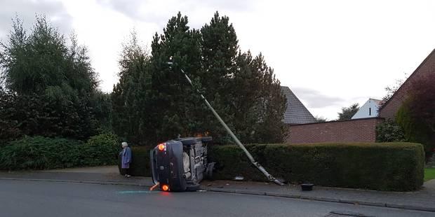Tournai: Spectaculaire accident sans blessé - La DH