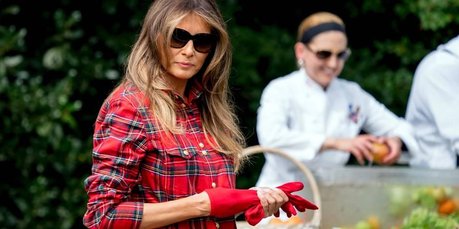 Melania Trump jardine à la Maison Blanche, comme Michelle Obama