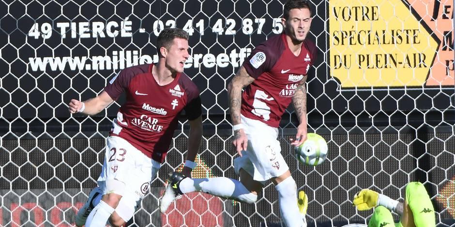 Charleroi s'incline face à Metz (3-0)