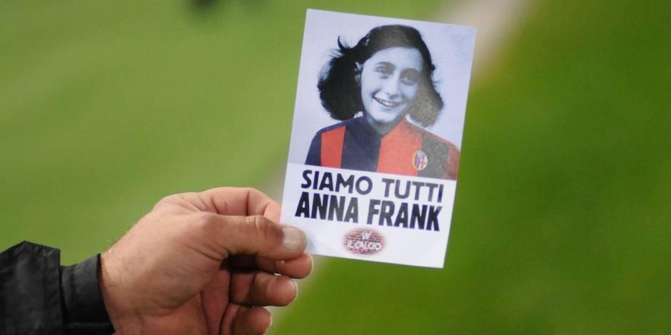 Photo d'Anne Frank détournée: 13 supporters de la Lazio interdits de stade